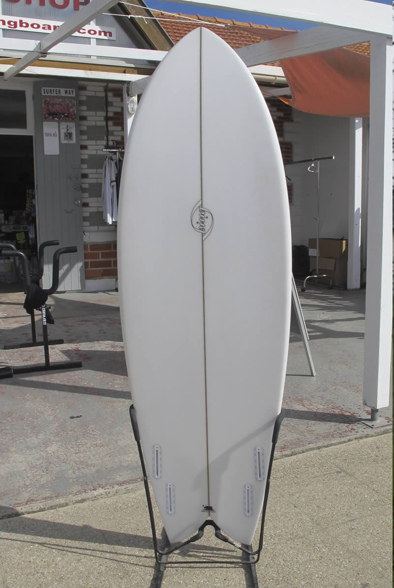 Bing quad fish surfboard shaped by californian shaper for Fish surfboard for sale