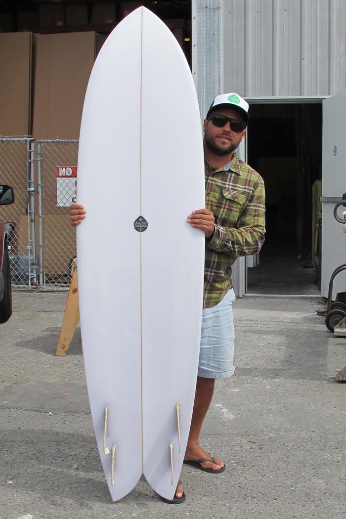 Josh hall quad fish surfboard by californian shaper for Fish surfboard for sale